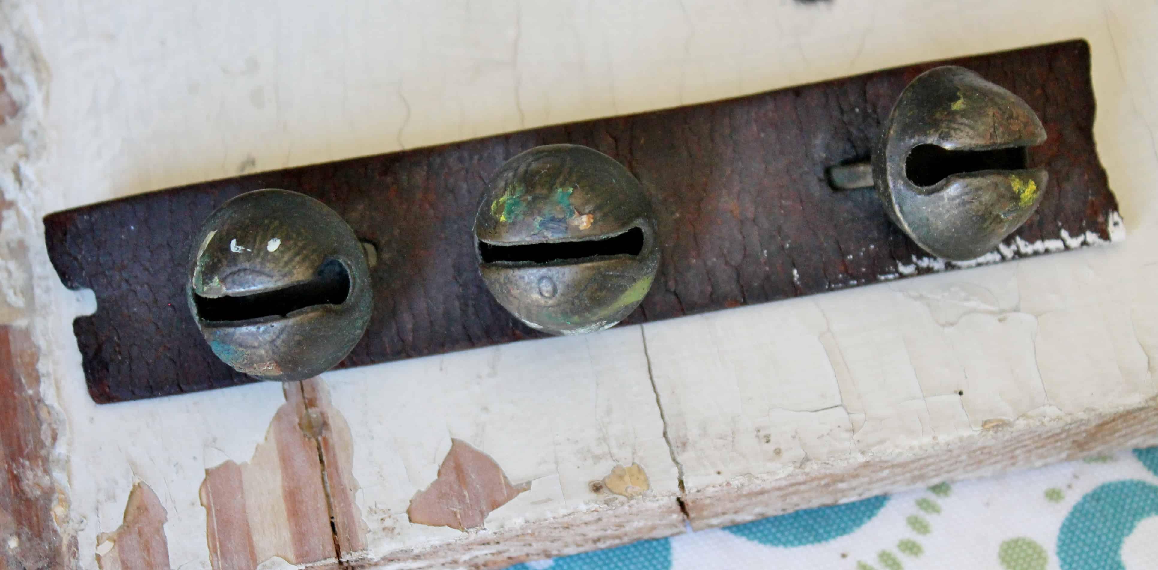 Oiled set of antique bells