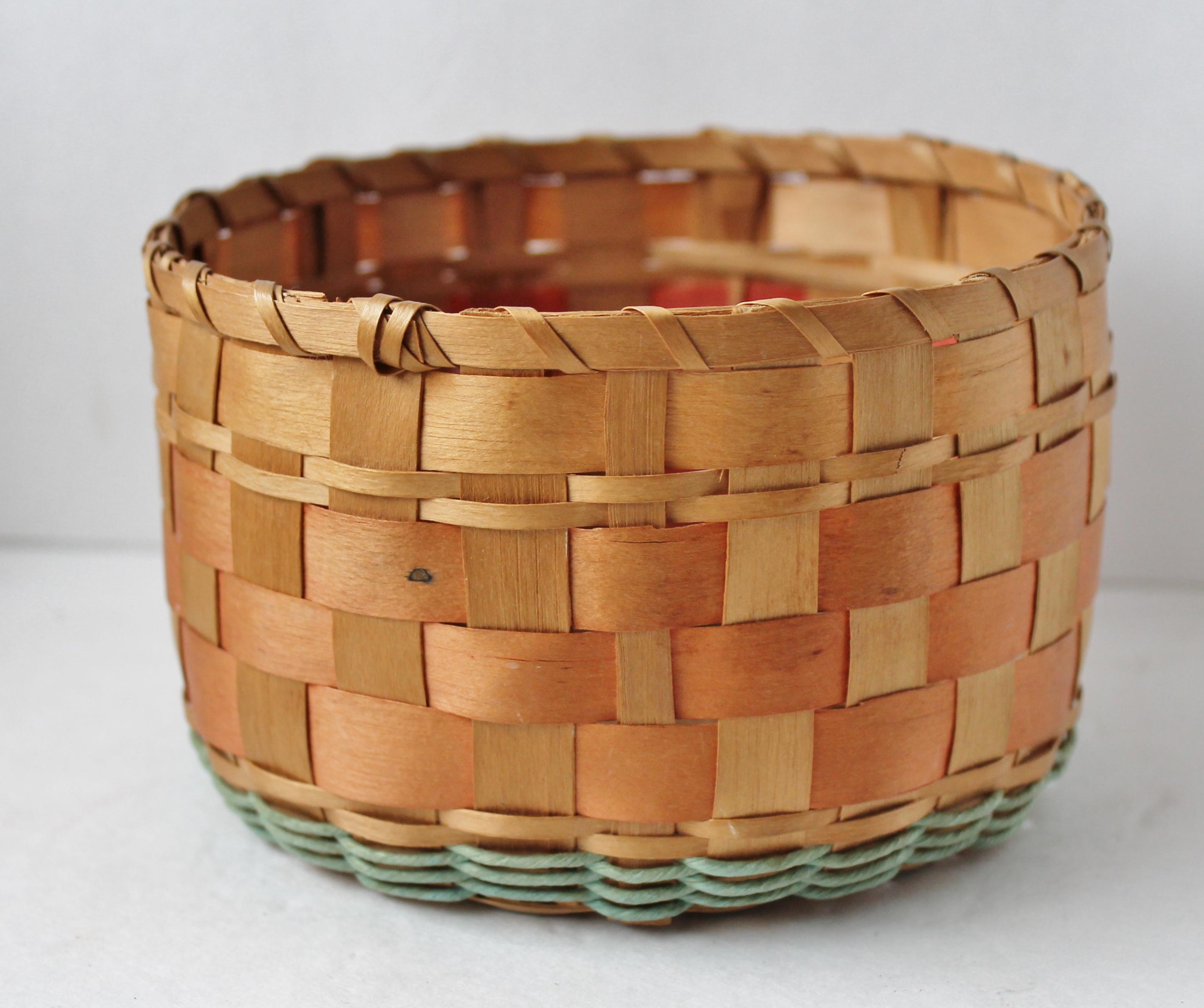 Small ash splint basket