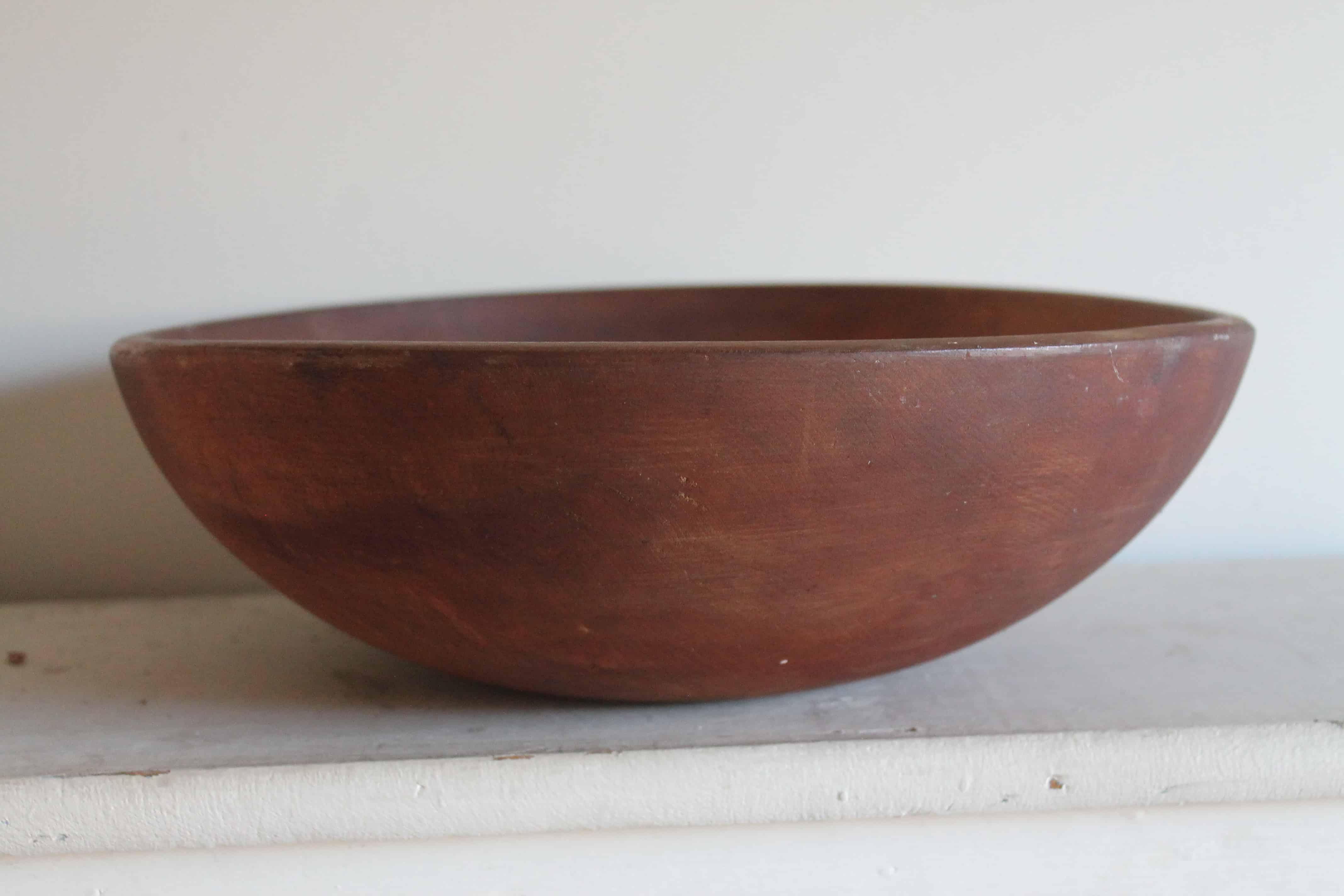 Vintage Wooden Bowl (2)