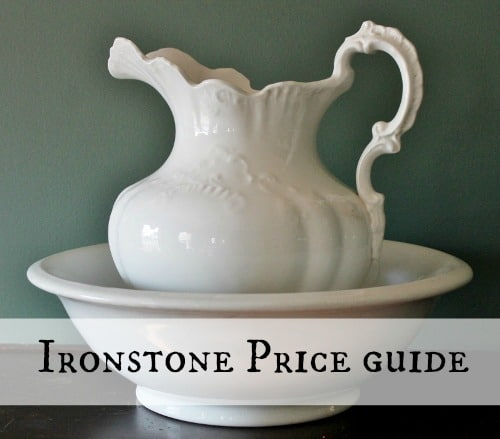 antique vintage ironstone bowl and pitcher set