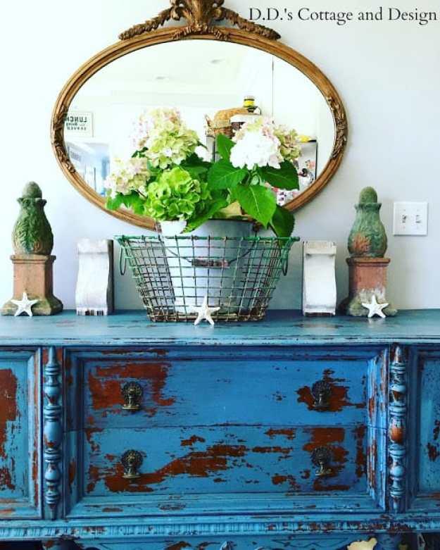 DD's Cottage blue dresser Diana's #40