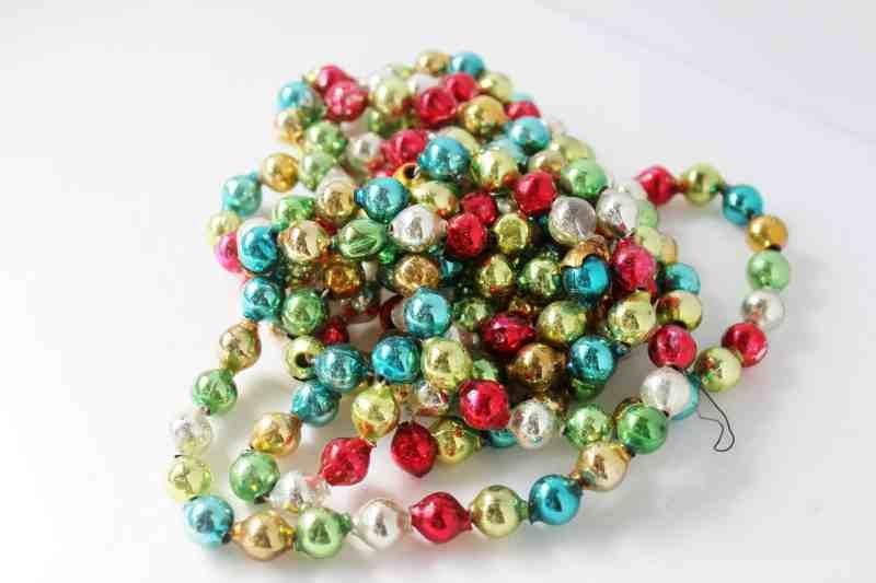 Vintage Mercury Glass Christmas Tree Beads (3)