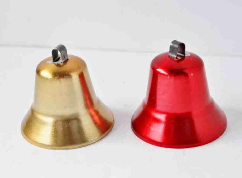 Vintage metal bell ornaments