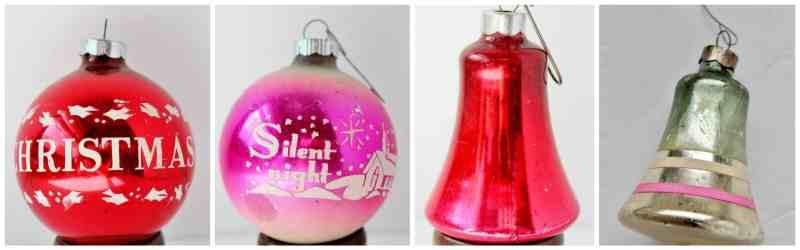 Vintage Shiny Brite Christmas Bulbs