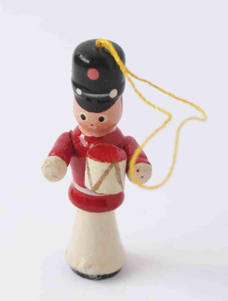Vintage Wooden Soldier Ornament (1)