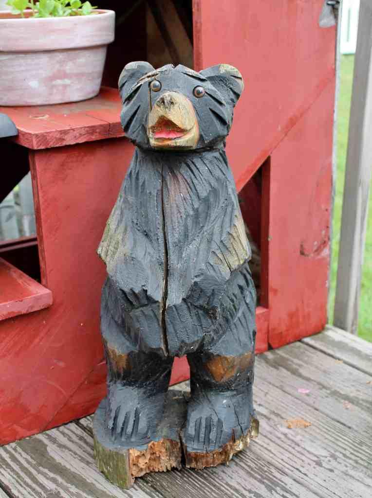 Carved Adirondack Bear