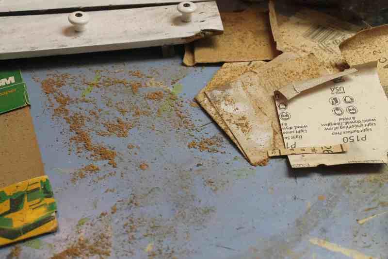 Sanded wood dust