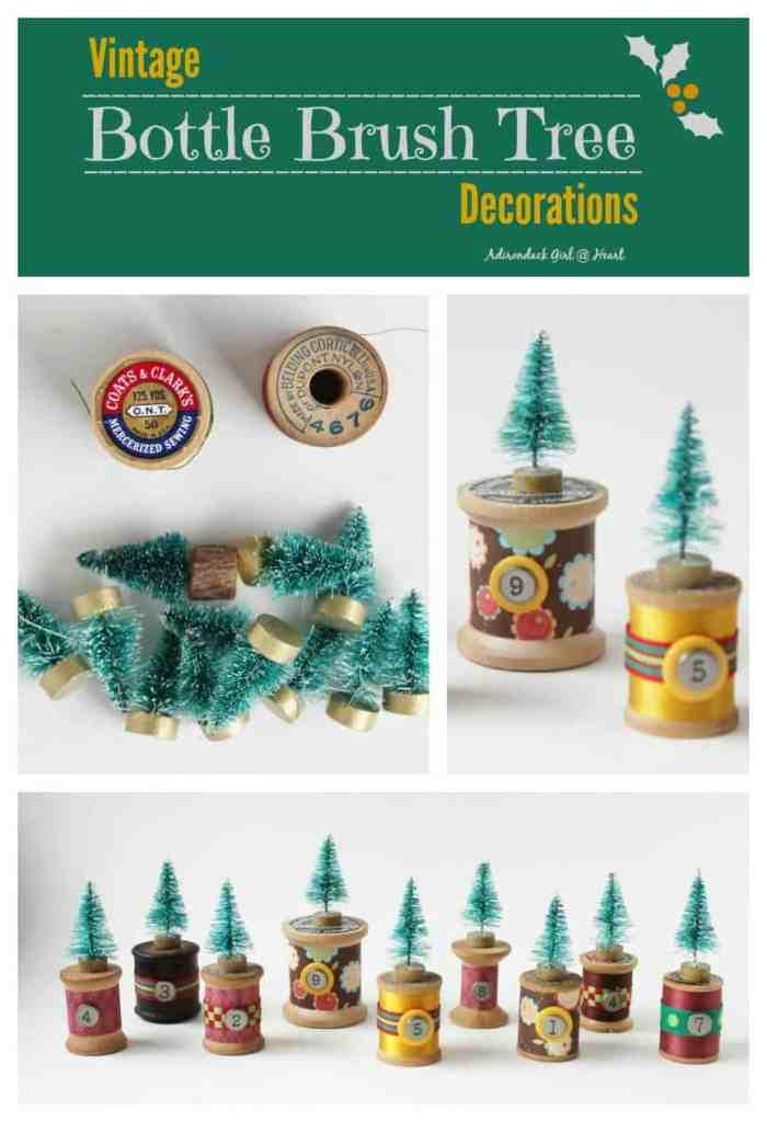 vintage-bottle-brush-tree-decorations-collage-with-words-adirondackgirlatheart.com