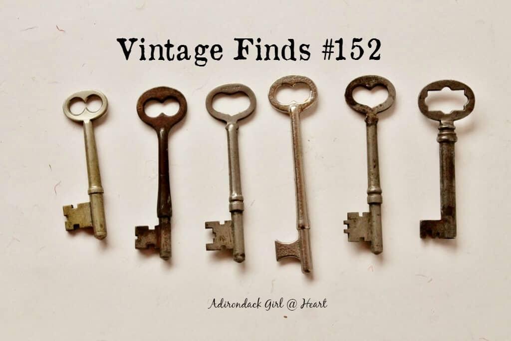 Grouping of six antique skeleton keys