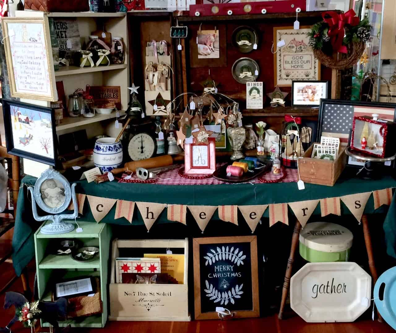 My craft booth at the Shaker craft fair