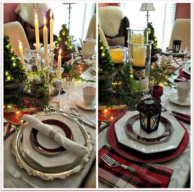 Plaid Christmas Table Settings at Panoply blog