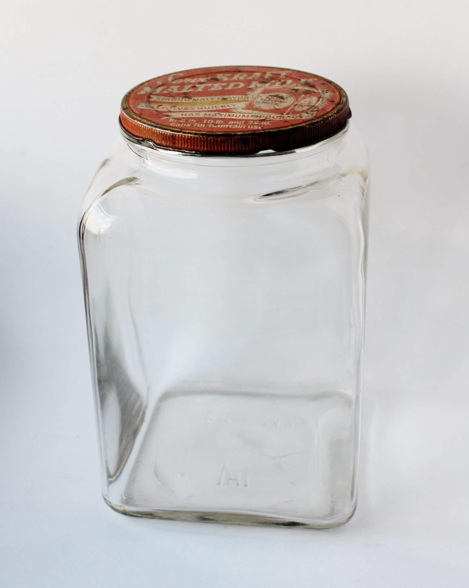 Antique Kraft Malted Milk Jar