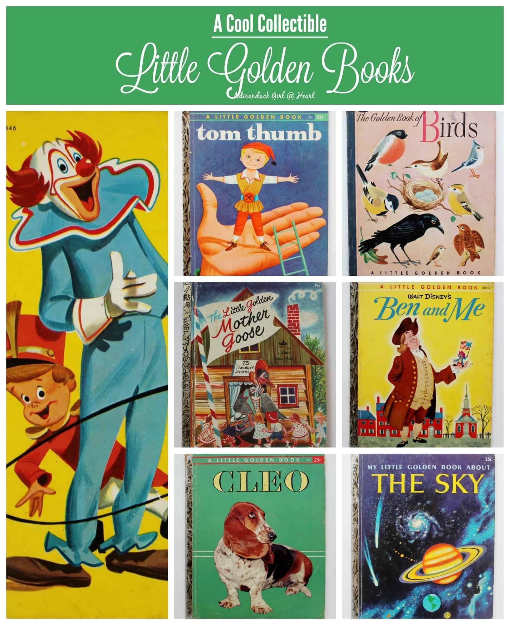 Little Golden Book collage