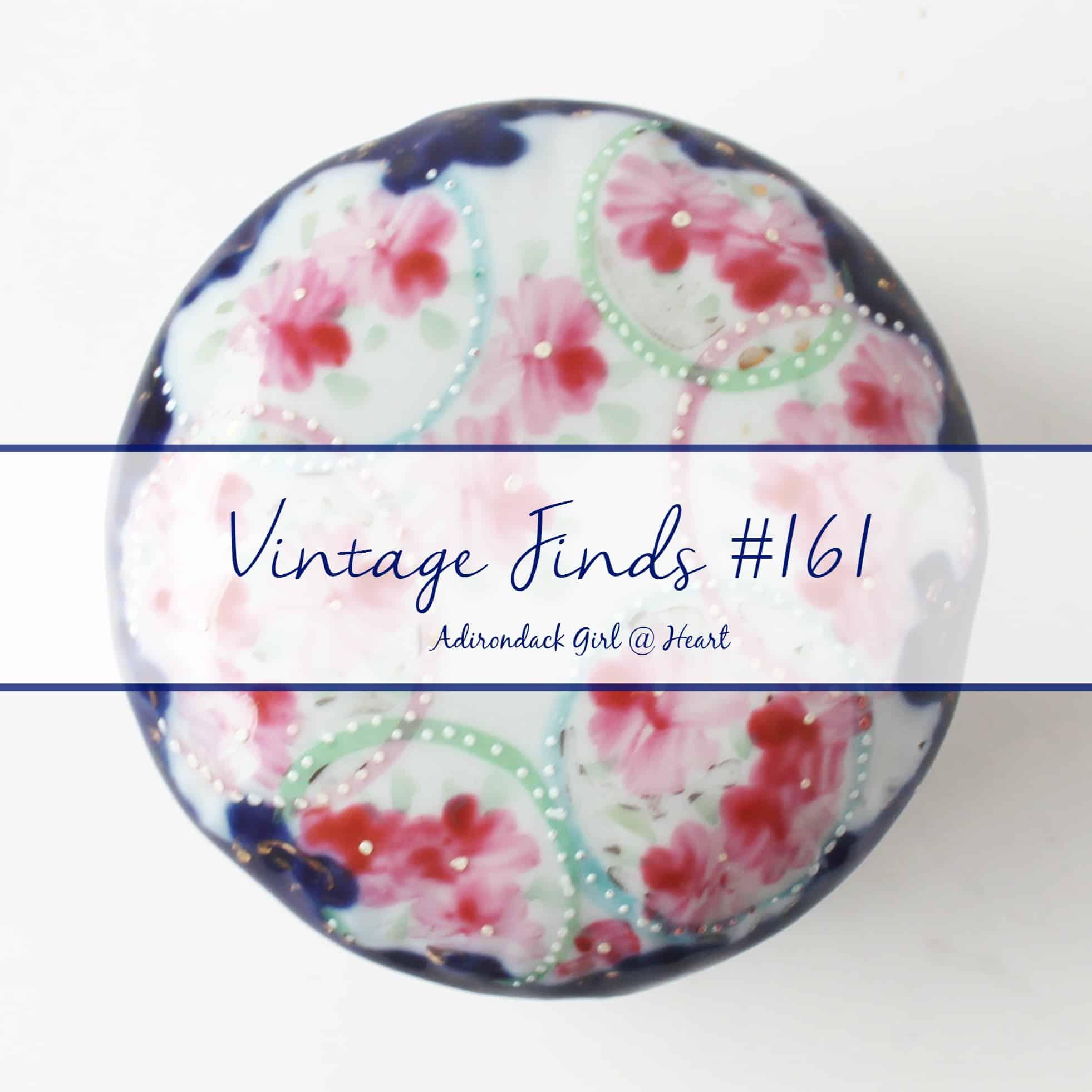 antique floral dresser jar