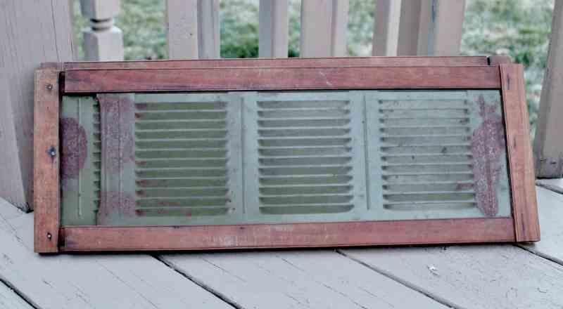vintage metal and wood window vents