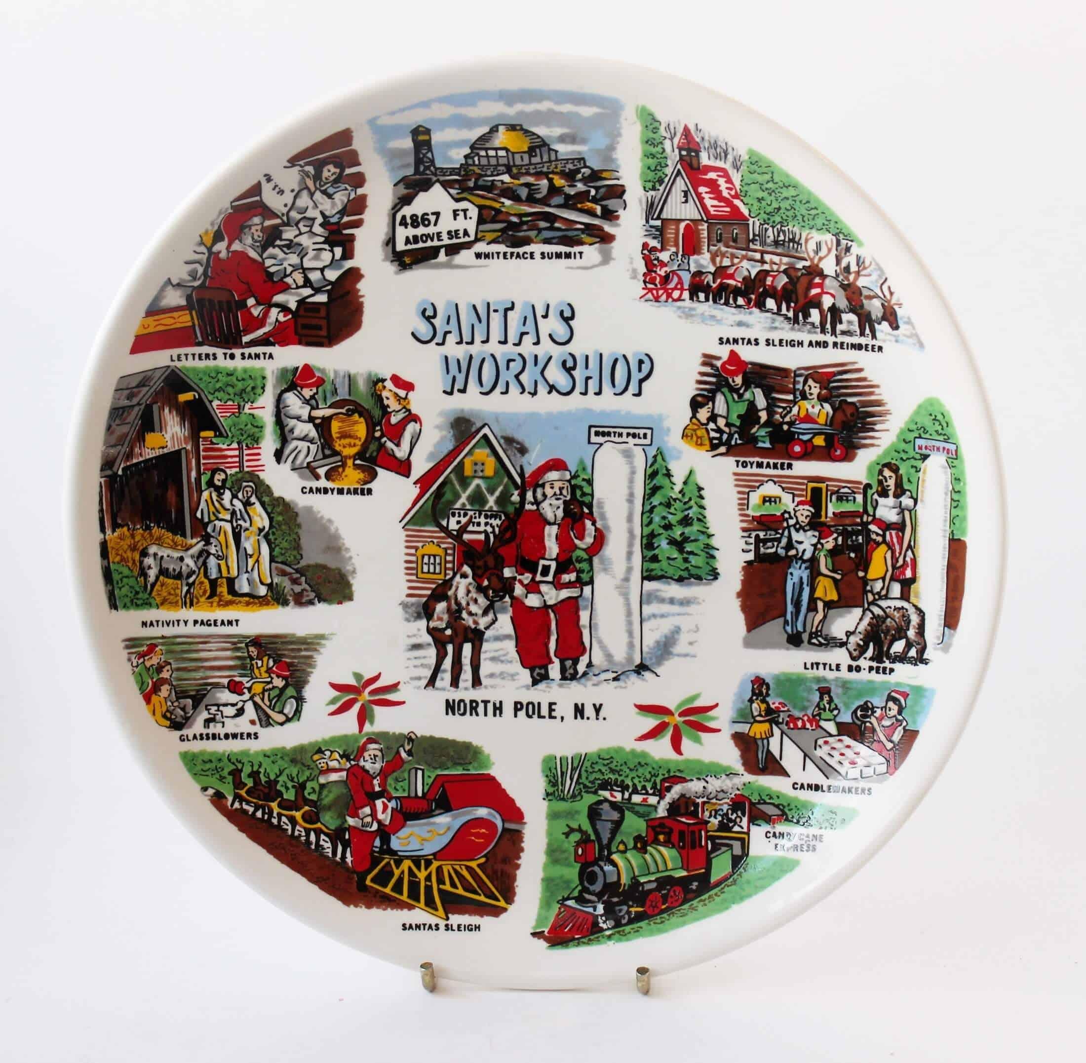 Vintage Find: Santa's Workshop Souvenir plate