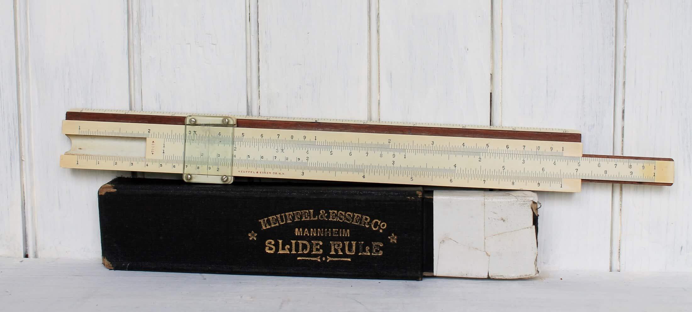 antique slide rule