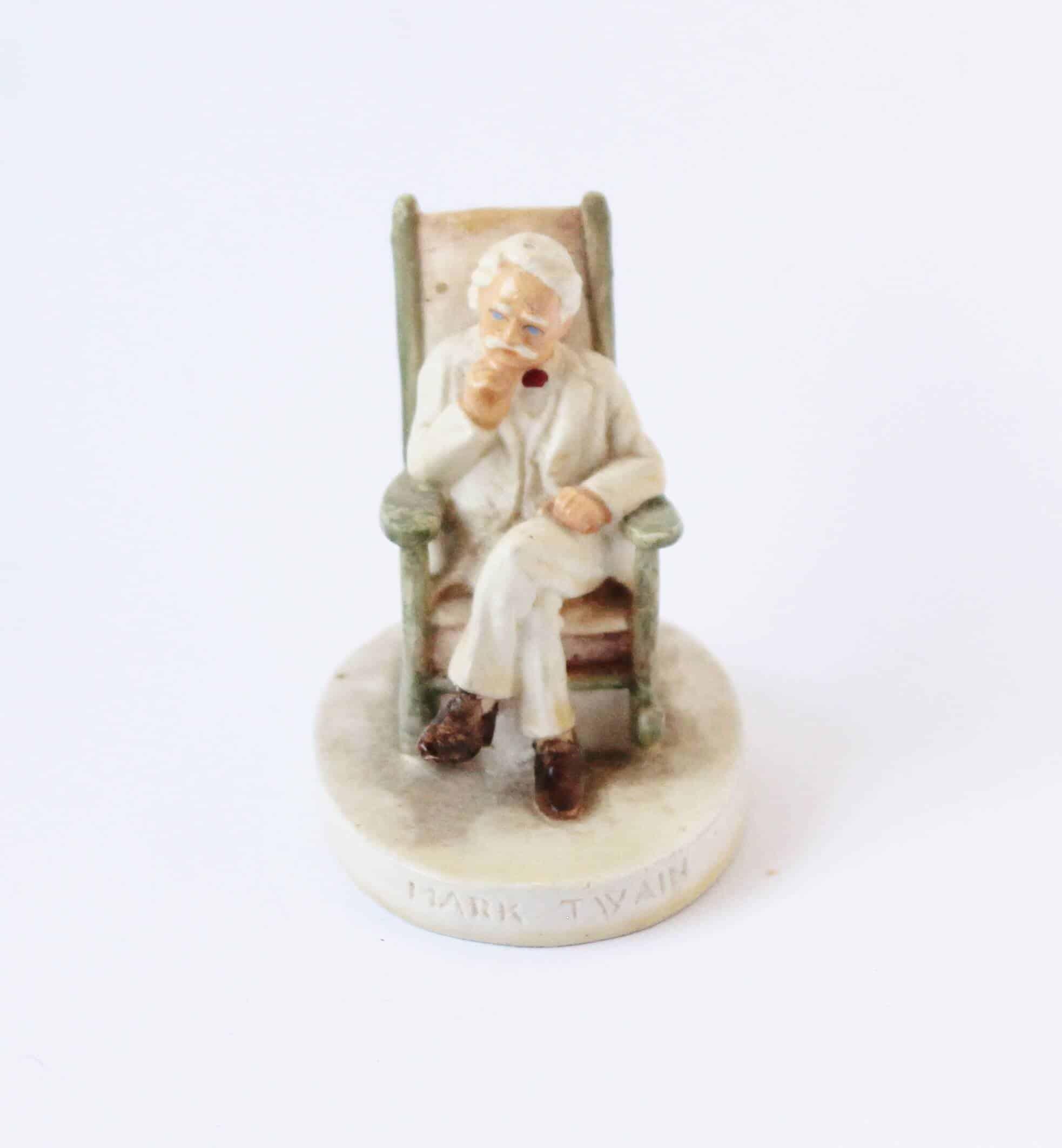 vintage mark twain figurine