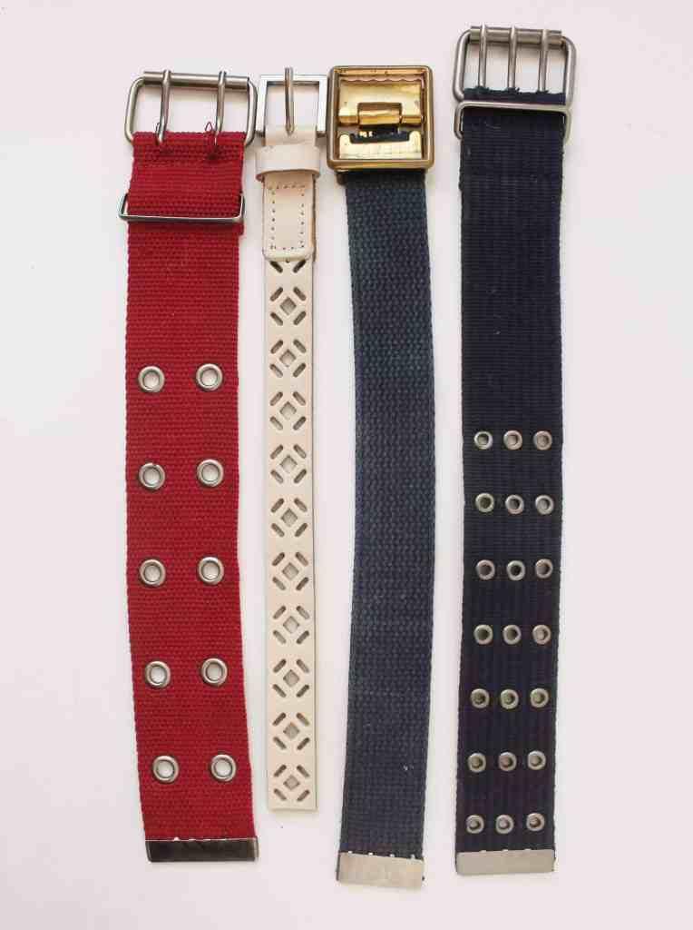 Thrifted belt bracelets