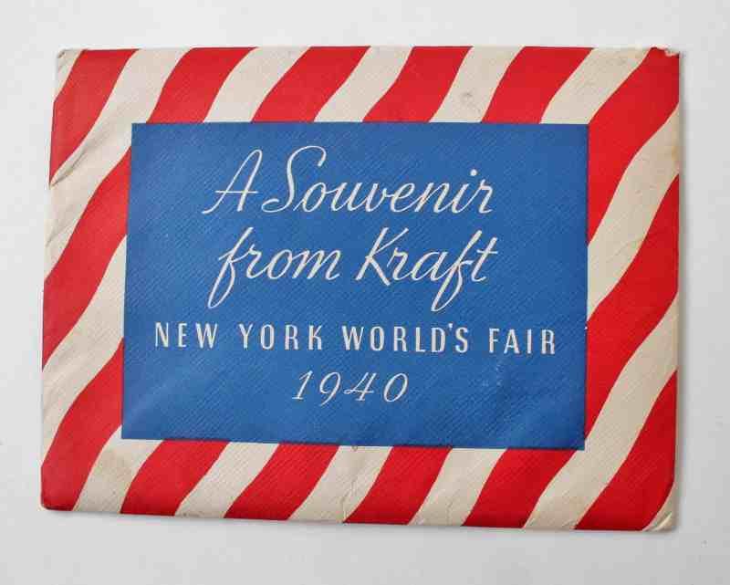 Vintage World's Fair 1940 Kraft Souvenir