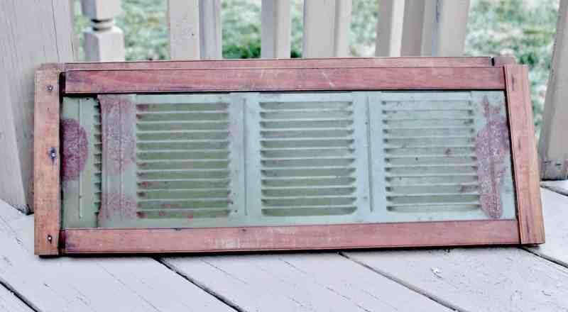 vintage green metal window vient