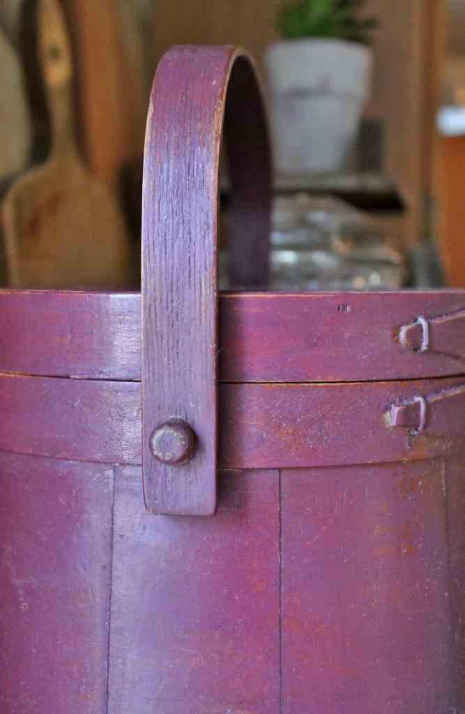 vintage wooden firkin