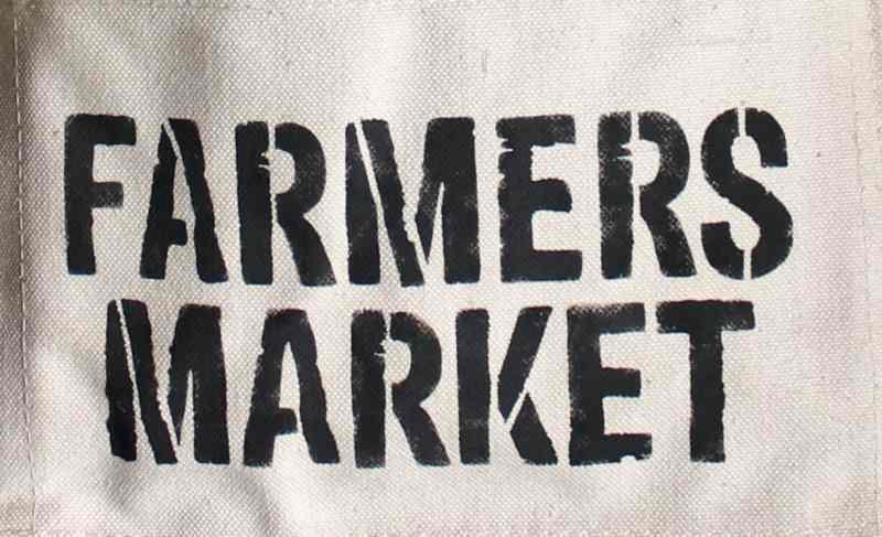 Farmers market stencil