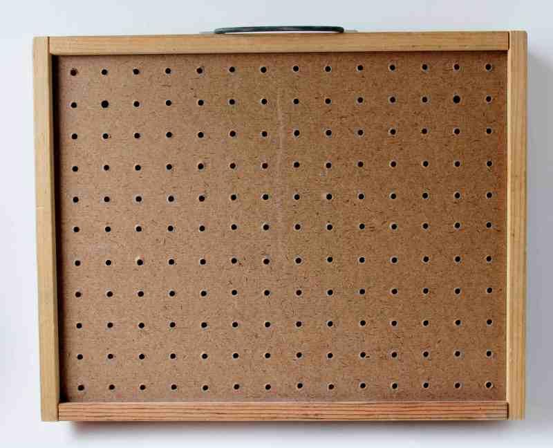 vintage peg board