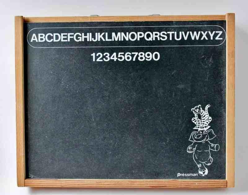 vintage chalk and peg board