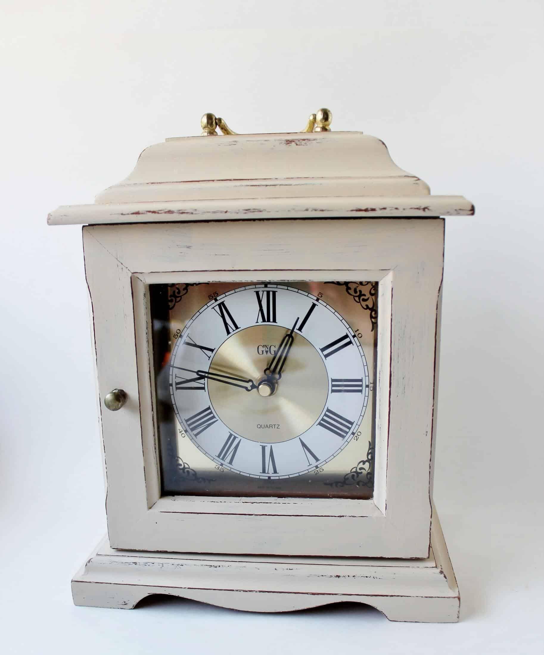 vintage carriage clock makeover