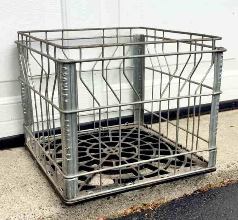 metal milk crate