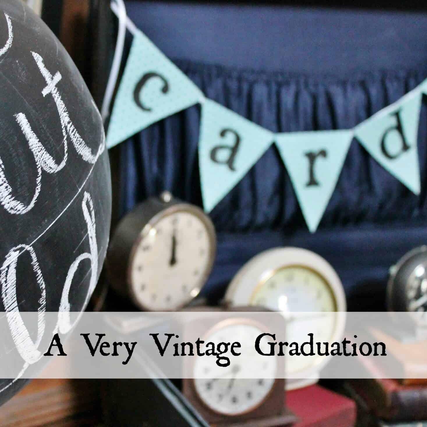 a very vintage graduation