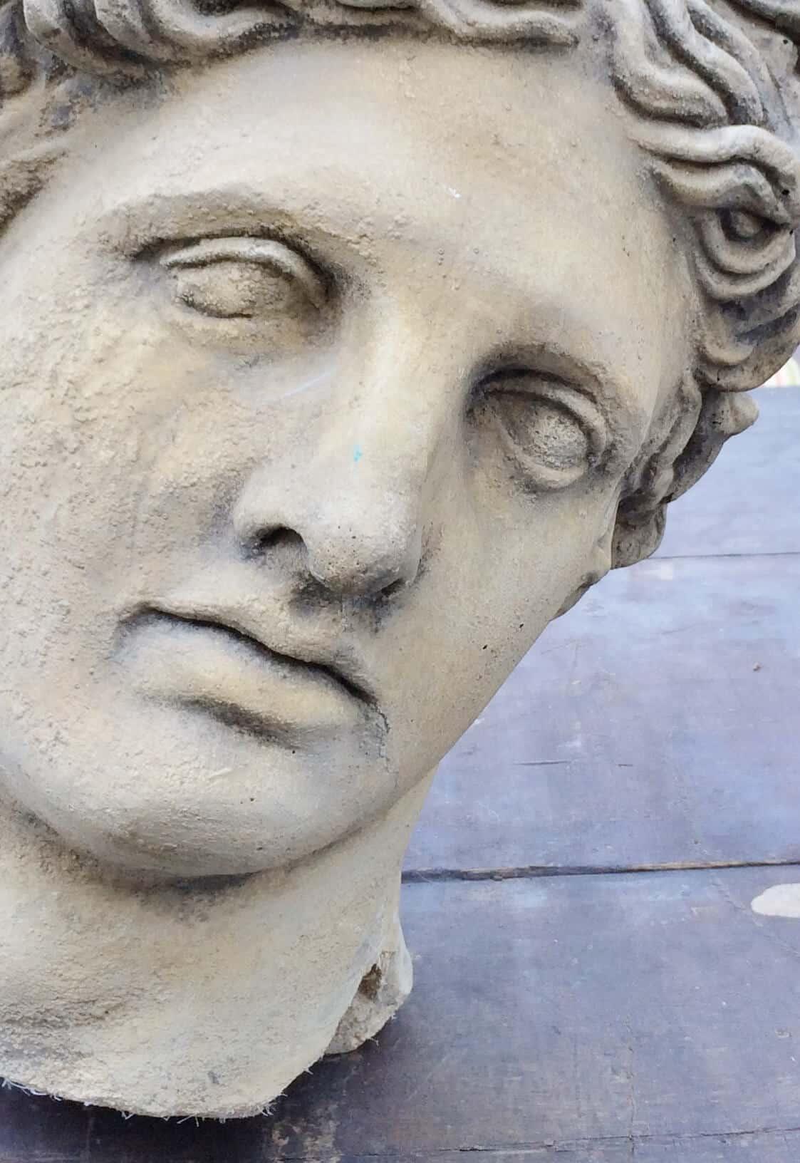 concrete garden bust