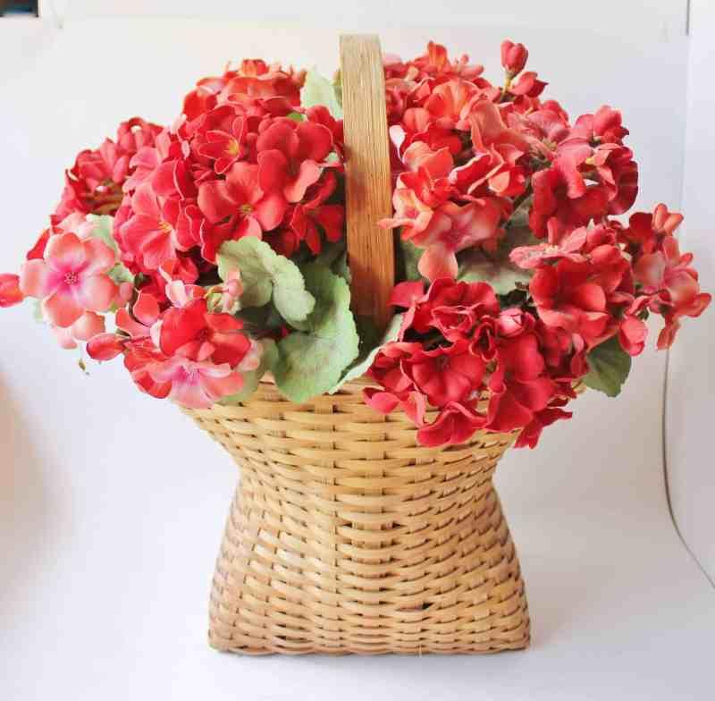 faux geraniums