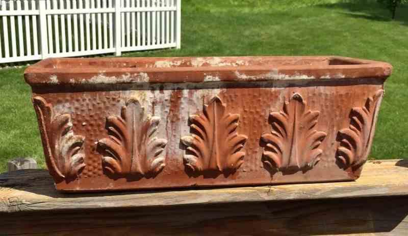 terra cotta flower box