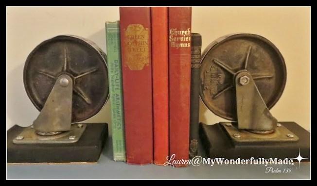 Vintage Castor Book Ends