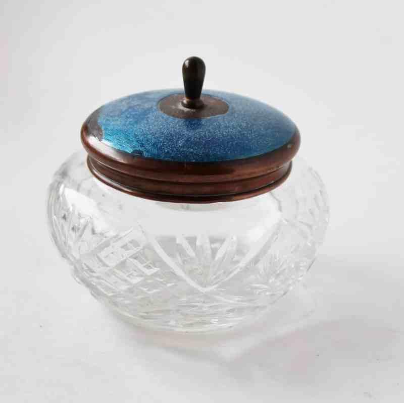 vintage vanity jar