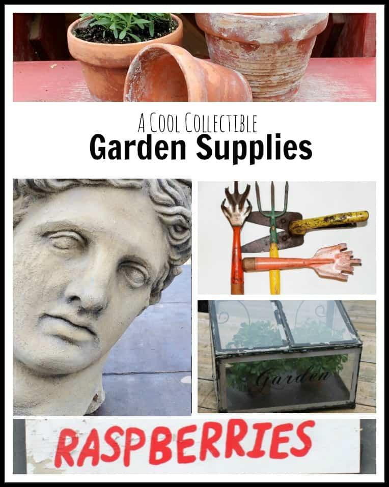 garden supplies collage
