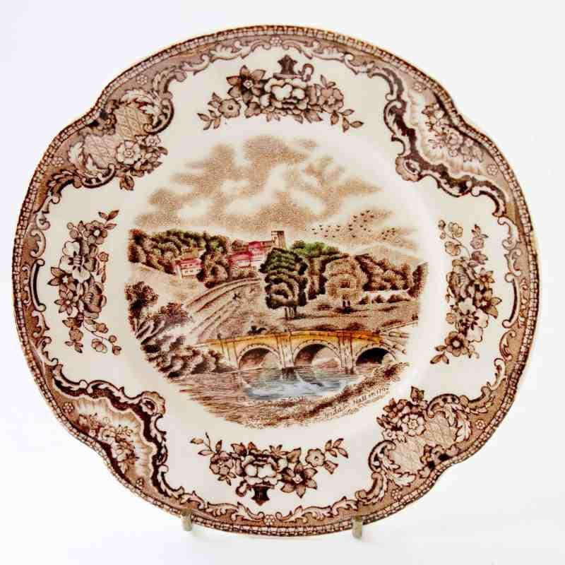 johnson bros old britain castles transferware plate