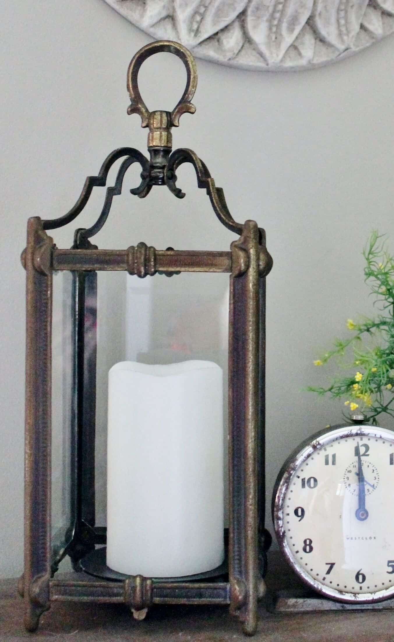 vintage french style light fixture turned lantern