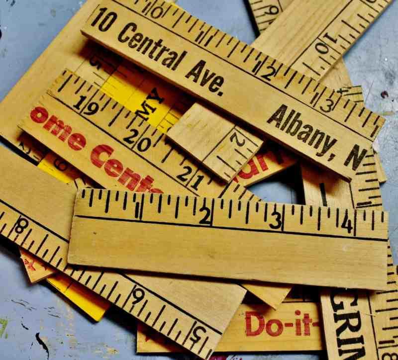 pieces of yardstick