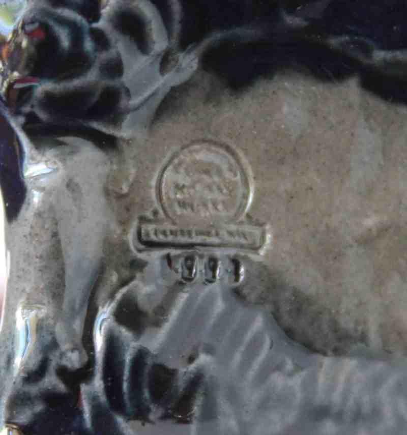 mark on ceramic lamb