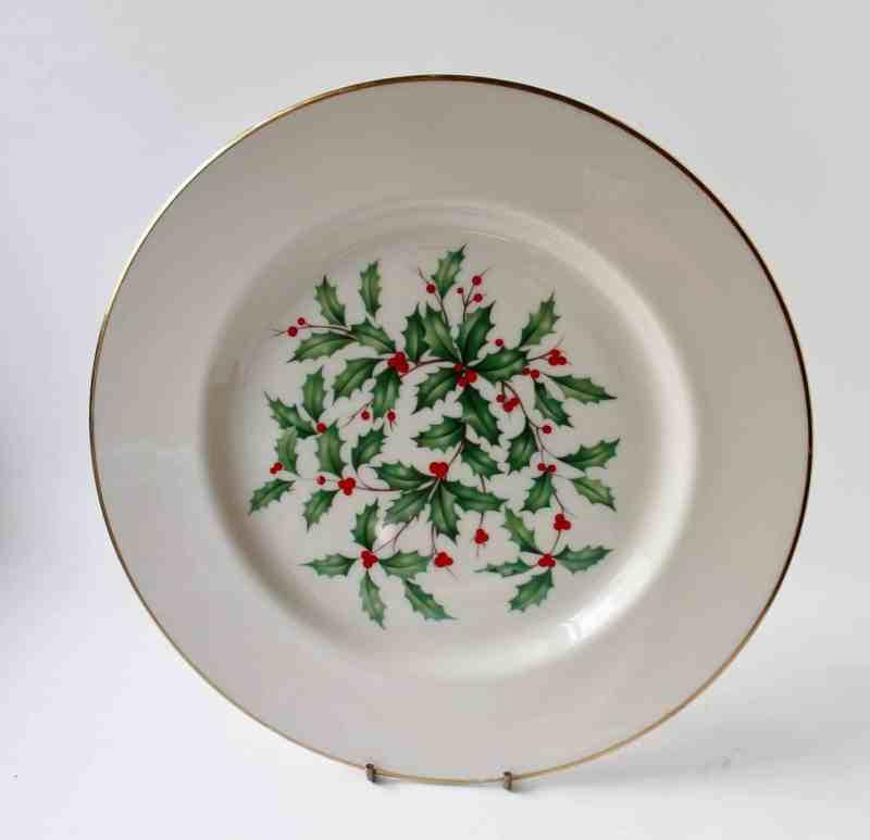 Lenox holly christmas plate