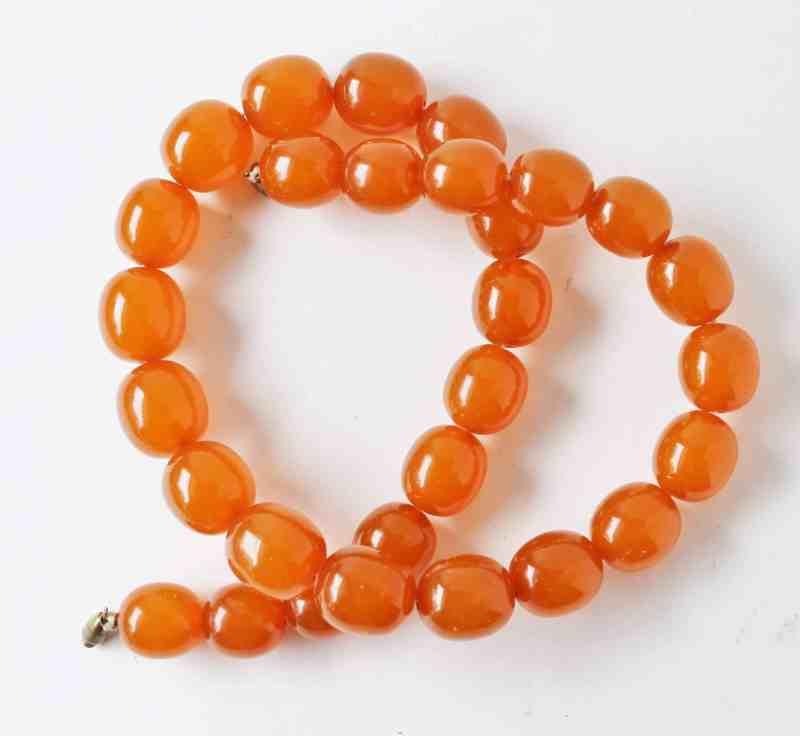applesauce bakelite necklace