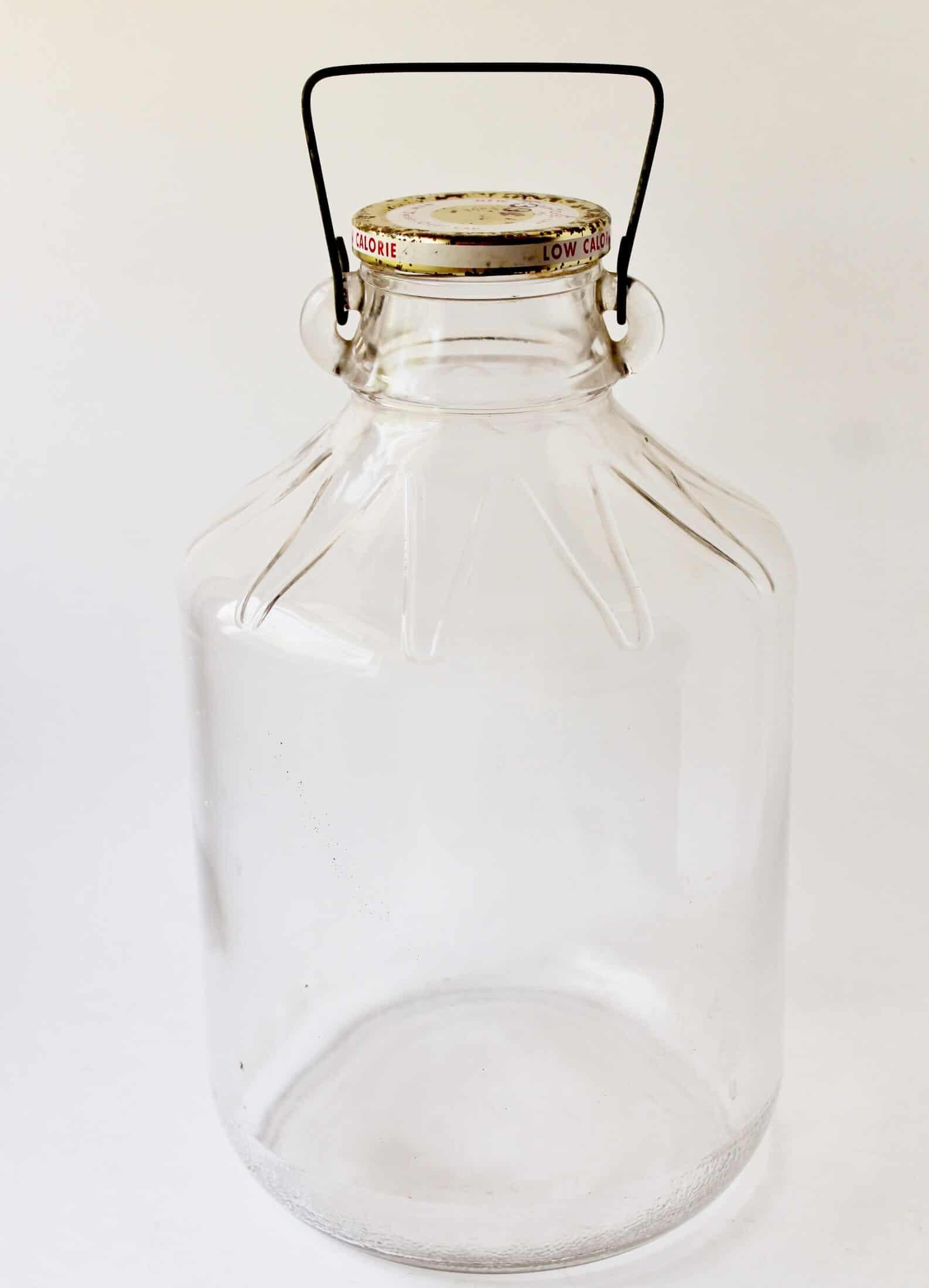 vintage glass wine jug