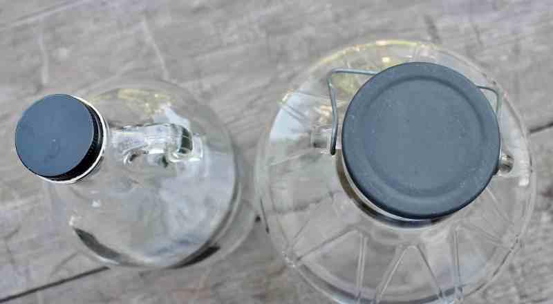 lids on glass jugs