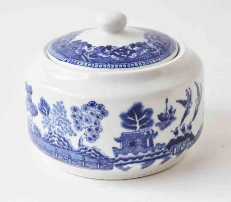 buffalo china blue willow sugar bowl