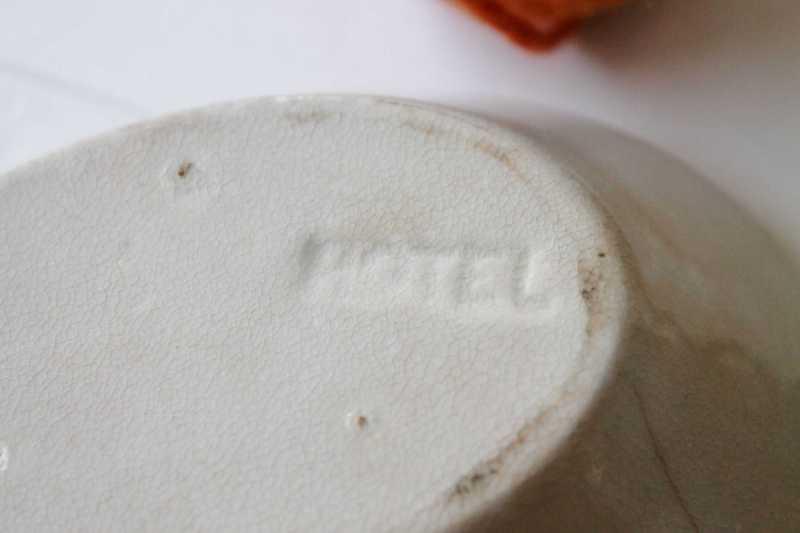 vintage hotel mark on bottom of soap dish