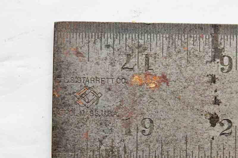 """mark on Starrett 18"""" ruler"""