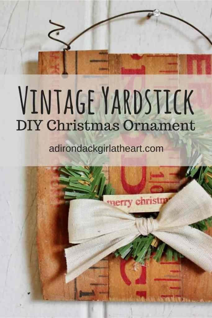 vintage yardstick christmas ornament adirondackgirlatheart.com